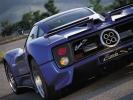 Pagani Zonda C12 S вид сзади (синяя)