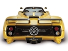 Pagani Zonda Roadster: вид сзади (желтый)