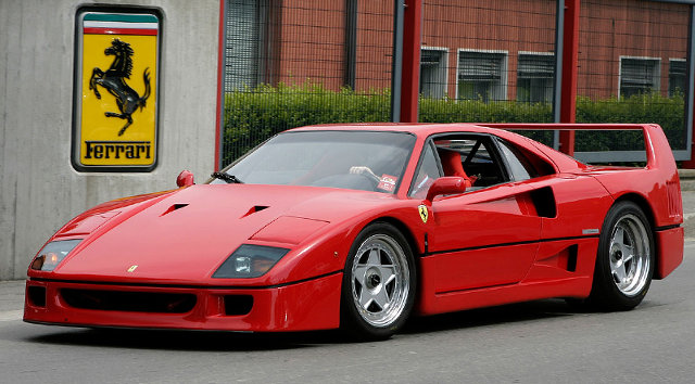 1987 Ferrari F40 top car rating and specifications